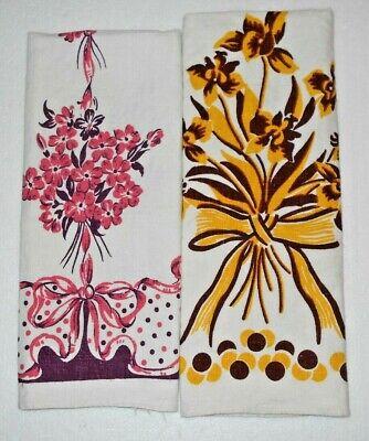 2 vintage 1940's kitchen towels Excellent condition