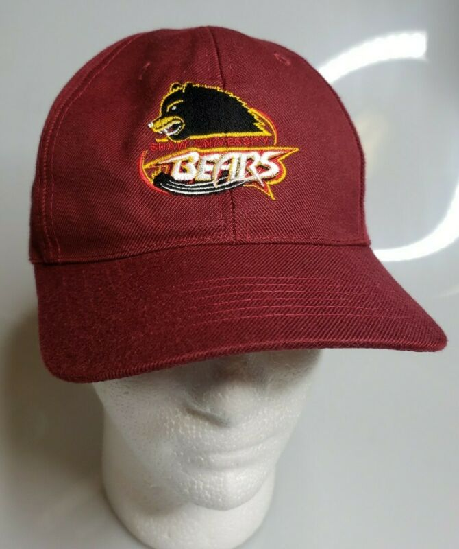 SHAW University Bears Baseball Cap Hat Baseball Cap Hat Adjustable SWAC Maroon