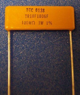 6 Of Vishay 100m-ohm 1 Thick Film Planar Precision Resistor Tr10f1006f