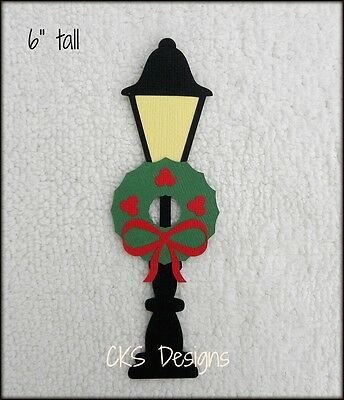 Die Cut Christmas Light Post Scrapbook Embellishment Paper Piecing CKS Designs