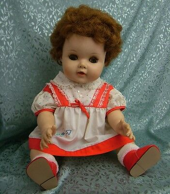 """BEAUTIFUL VINTAGE 1959 AMERICAN CHARACTER 19"""" BABY TOODLES DOLL ~ DRESSED"""