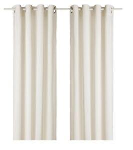 IKEA Sanela White Velvet Drapes 55