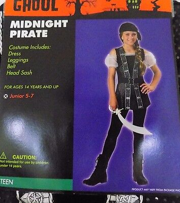 NEW Midnight Pirate Costume Teen Juniors Girl's 1-3 or 5-7 NWT - FREE SHIPPING](Teen Pirate Costumes)