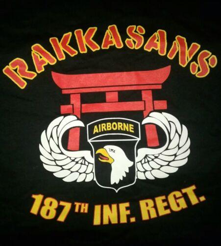 NEW! size L T-Shirt RAKKASANS 187th INFANTRY Air Assault 101st Airborne