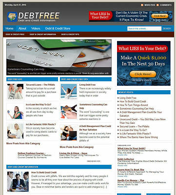 Debt Advice Blog Store Website With Amazon-adsense-clickbank Hosting