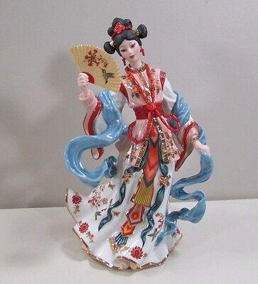 "Gorgeous Danbury Mint ""Coral Princess"" Chinese Maiden Figurine by Lena Liu"