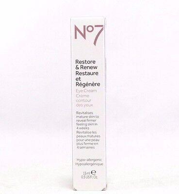 Boots No7 Restore & Renew Eye Cream 15ml 0.5 oz