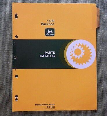 Genuine John Deere 850 950 1050 Tractor 1550 Backhoe Parts Catalog Manual Nice