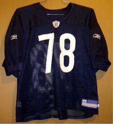 14d825194c4 CHICAGO BEARS AARON GIBSON #78 NAVY NFL GAME WORN Size 52 PRACTICE JERSEY