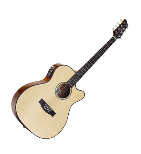 Bouzouki Electro Acoustic Guitar Shaped 8 String model 2246 by Ozark