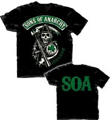 Sons Of Anarchy Ireland T Shirt   Official Motorcycle Club Samcro Jax Teller Tv