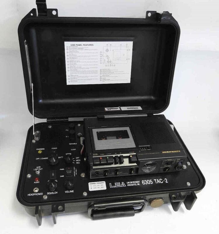 LAW ENFORCEMENT ASSOCIATES LEA MODEL 6305 TAC-2 BODY WIRE AND RECORDING SYSTEM