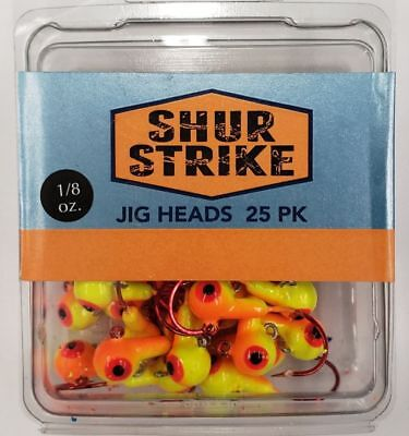 Black//Yellow Pack of 20 3//8-Ounce … 5546 Apex Jig Heads