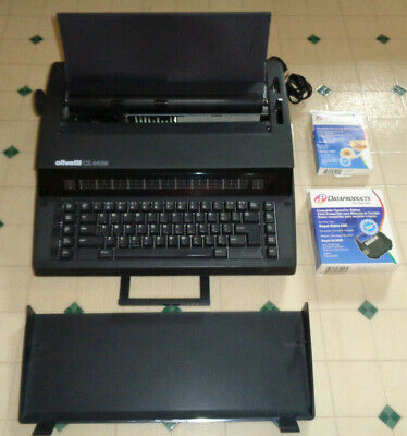 Olivetti Model Cx 440m Portable Electric Typewriter Tested Works W Extras