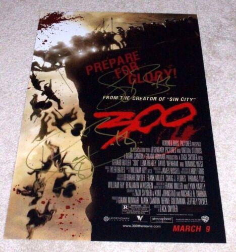ACTOR GERARD BUTLER SIGNED '300' 12x18 MOVIE POSTER PHOTO W/COA LEONIDAS