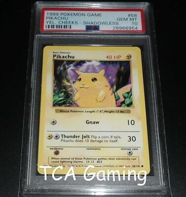PSA 10 GEM MINT Pikachu 58/102 SHADOWLESS Base Set BEST SONG CD Pokemon