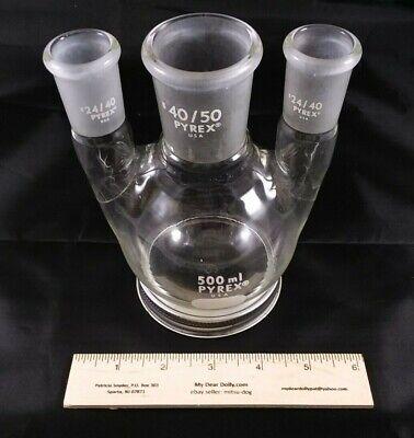 500ml Pyrex 3 Neck Round Bottom Flask 4050 22440