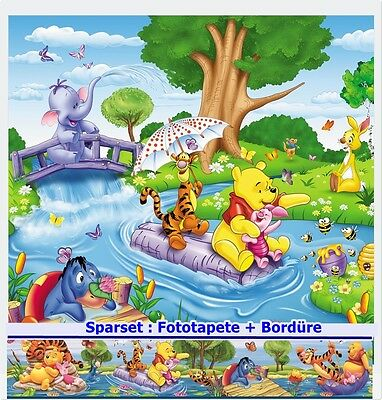 WINNIE PUUH Kinder Fototapete+BORDÜRE Tapete Zimmer Poster Pooh Disney Tapeten