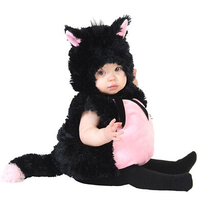 Little Kitty Costume Black & Pink Cat Princess Paradise 6 9 12 18 24 months - 2t Cat Costume