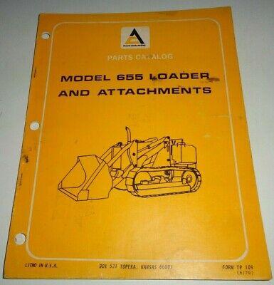 Allis Chalmers 655 Loader Fits Crawler Tractors Parts Catalog Manual Original
