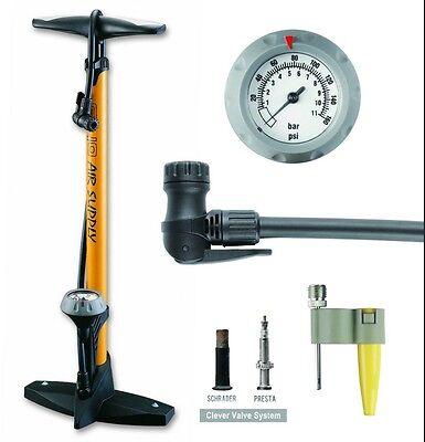 GIYO High Pressure Bicycle Bike Floor Air Pump Gauge 160 Psi