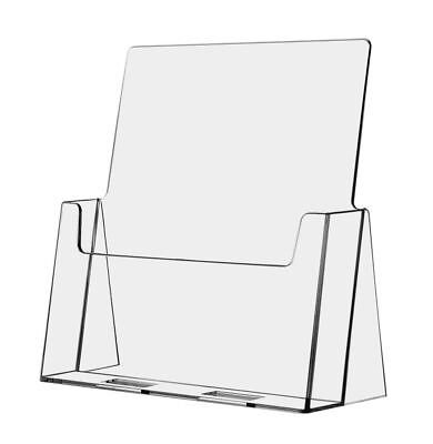 Large Brochure Holder Flyer Stand Clear Display 8.5x11 Azm Displays