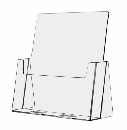 """Large Brochure Holder Flyer Stand Clear Display 8.5""""x11"""" AZM Displays"""