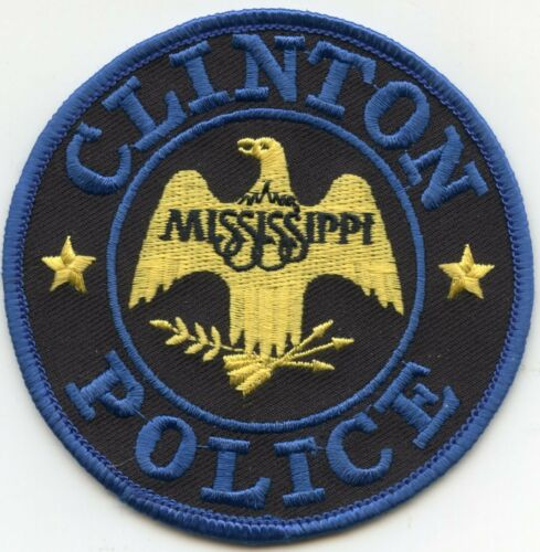 CLINTON MISSISSIPPI MS POLICE PATCH