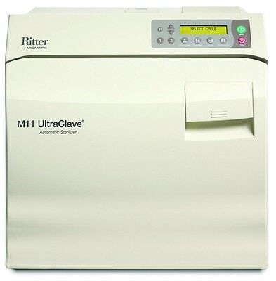 New Ritter Midmark M11 Ultraclave 6.5 Gal. Steam Autoclave M11-022