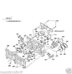 kit 4 courroies k7 pour chaine sony hcd451 hcd 451 hcdh51 hcd h51. Black Bedroom Furniture Sets. Home Design Ideas