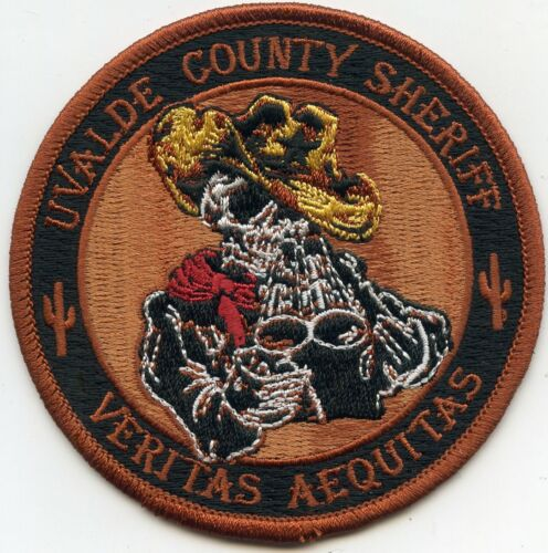 UVALDE COUNTY TEXAS TX round SHERIFF POLICE PATCH