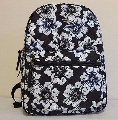 Kate Spade Ridge Street Black Multi Nylon Backpack  Siggy