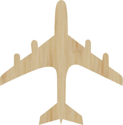 Airplane Unfinished Laser Cut Wood Craft Cutout All Sizes Jetliner Plane Cut Out