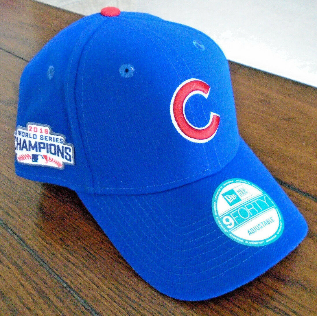 04b3fe261a9 NEW CHICAGO CUBS WORLD SERIES CHAMPIONS 2016 9FORTY NEW ERA ONE SIZE HAT CAP