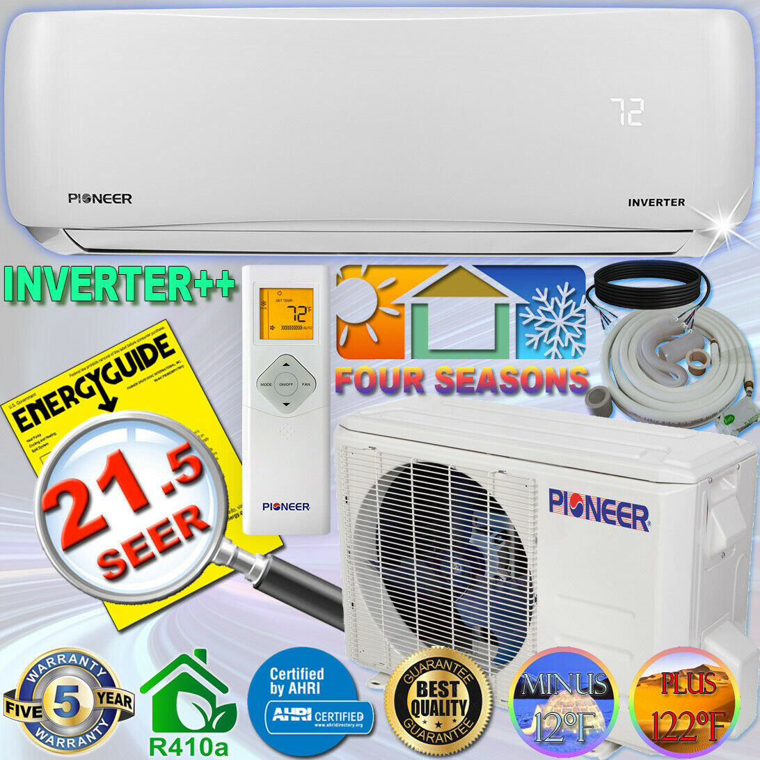 PIONEER 12000 BTU 21.5 SEER DC Inverter++ Mini Split Heat Pu