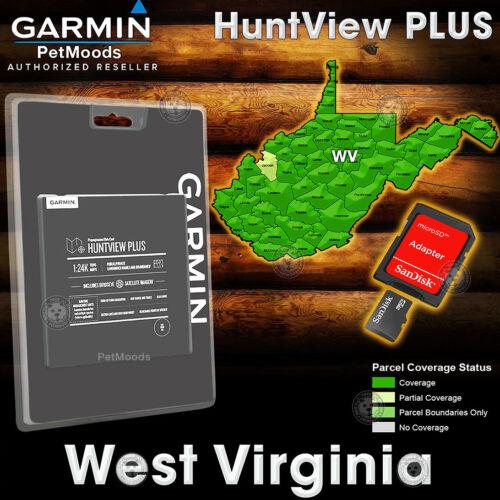 Garmin HuntView PLUS Map WEST VIRGINIA - MicroSD Birdseye Satellite Imagery 24K