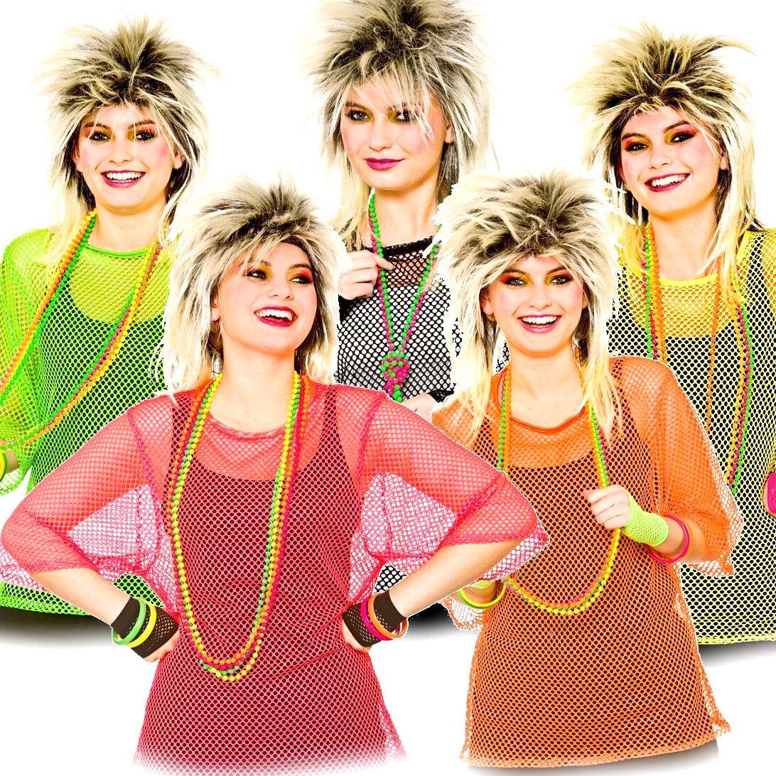 Ladies Hen Party Bead Adults Womens Fancy Dress Accessory 80s 1980s Disco
