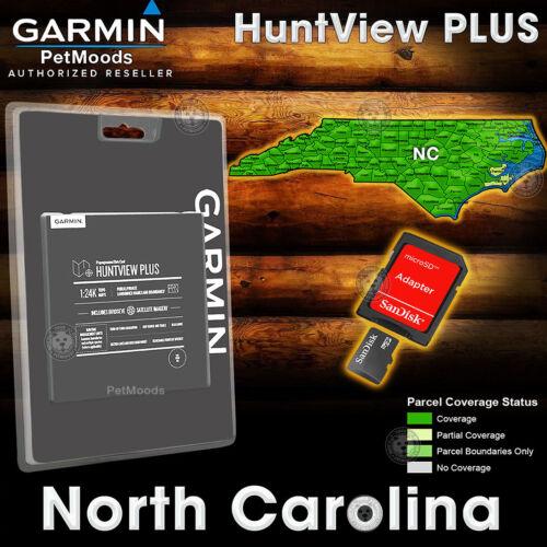 Garmin HuntView PLUS Map NORTH CAROLINA - MicroSD Birdseye Satellite Imagery 24K