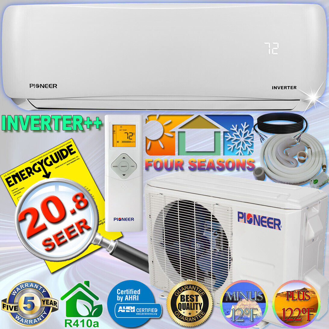 PIONEER 18000 BTU 20.8 SEER DC Inverter++ Mini Split Heat Pu