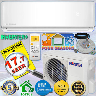 Pioneer 18000 Btu 17 7 Seer Dc Inverter  Ductless Mini Split Heat Pump Set 230V
