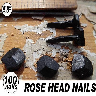 "5/8"" ROSE HEAD NAILS vintage lotwrought iron rusticvintage antique look-100"