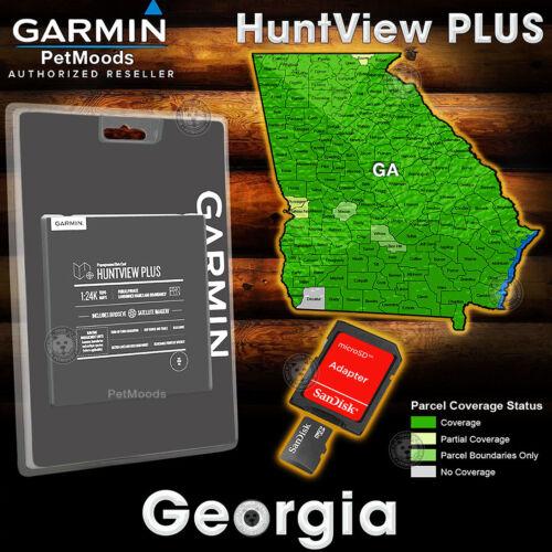 Garmin HuntView PLUS GEORGIA Map - MicroSD Birdseye Satellite Imagery 24K Hunt