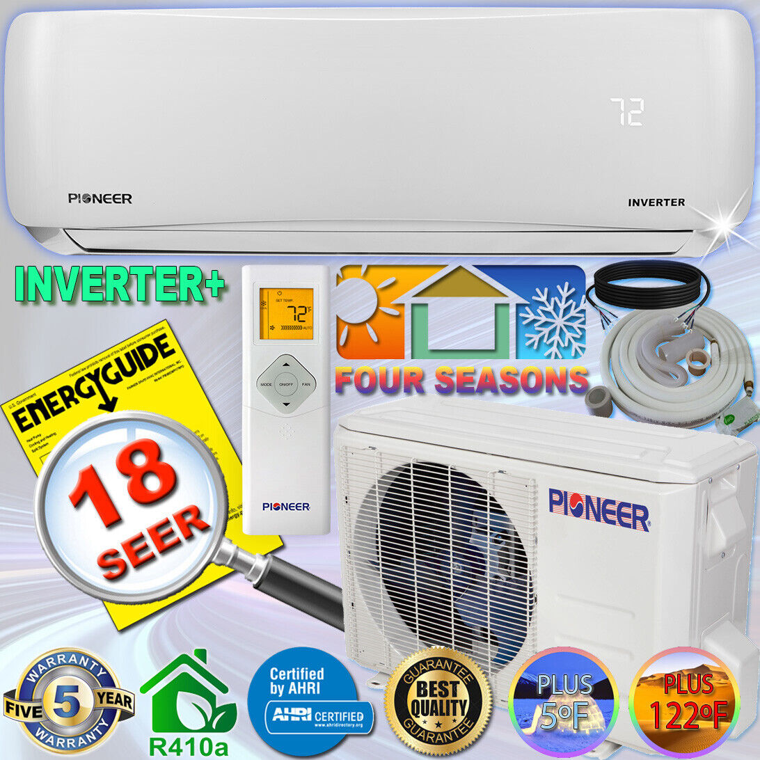 PIONEER 9000 BTU 18 SEER DC Inverter+ Ductless Mini Split He