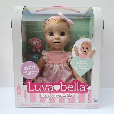 Luva Bella Blonde Girl Realisitic Expressions Interactive Baby Doll #6044112