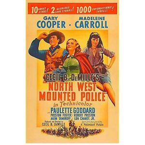 NEW DVD North West Mounted Police ~1940 technicolor Cecil B. DeMille
