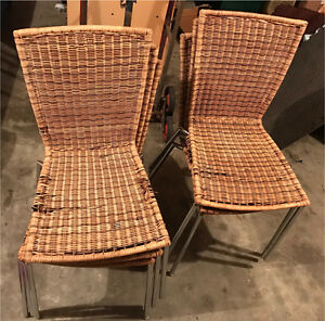 Six metal frame cane chairs Beverly Hills Hurstville Area Preview