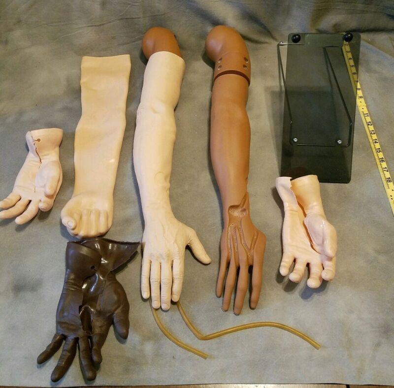 2 IV Training Arm Phlebotomy Practice Medical Mannequin Manikin + Acc Gaumard