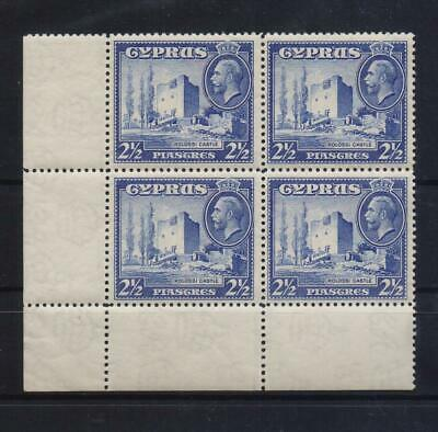 CYPRUS 1934 DEFINITIVE 2 1/2 PIASTRES MNH STAMP IN CORNER BLOCK OF 4