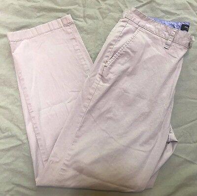 Nautica Men's Khaki Pants Men's Size 32 x 30 Flat Front The Beacon Pant  Trimmer