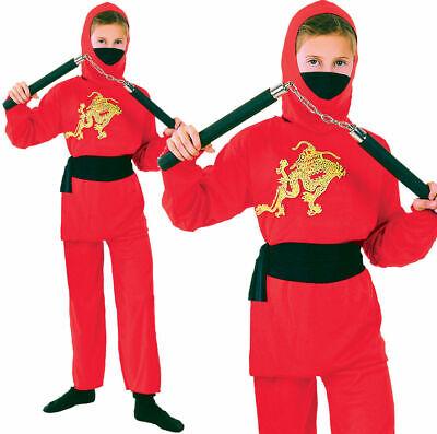 Mädchen Jungen Kampfsport Kostüm Ninja Overall Kostüm Buchwoche Outfit